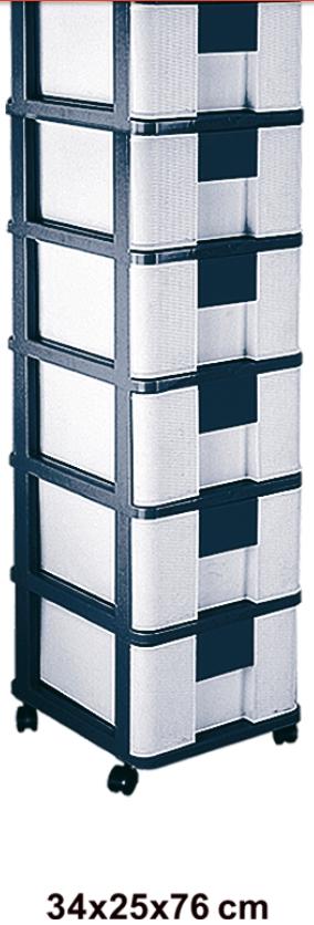 فایل شش طبقه حصیری پلاستیکی مدل756