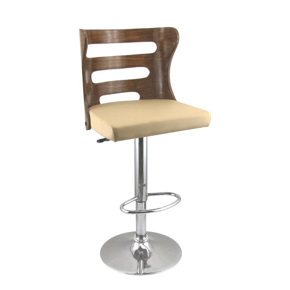 صندلی اپن طرح چوبی مدل BH390G رنگ گردویی