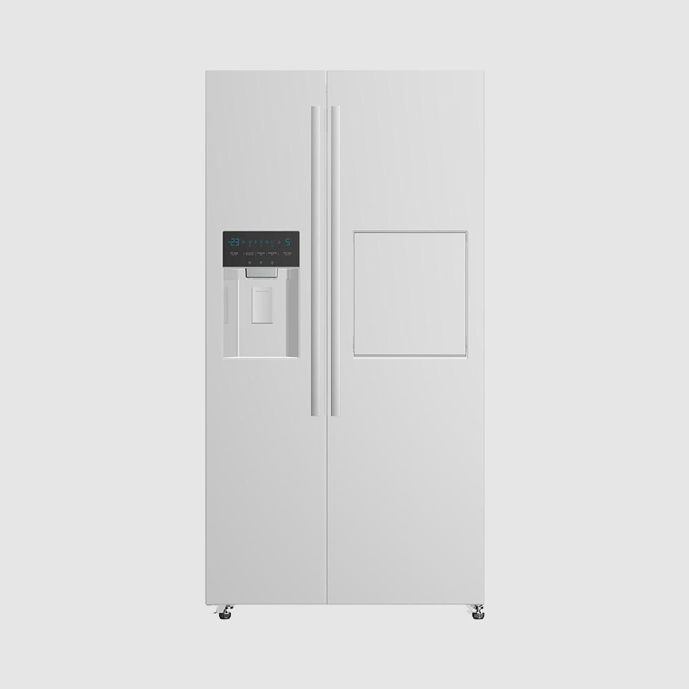 یخچال ساید پالرمو دو درب دوو مدل D4S-2915GW رنگ سفید براق