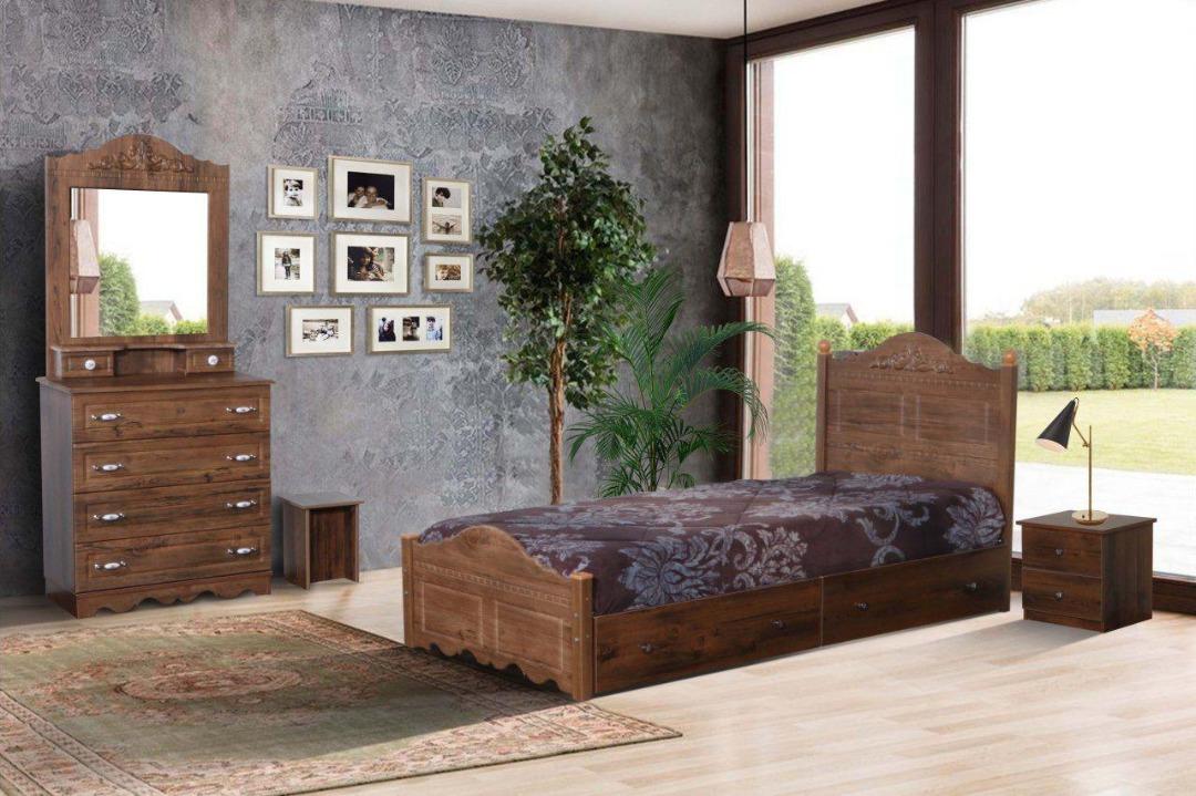 تخت تک نفره چوبی آرمیتا