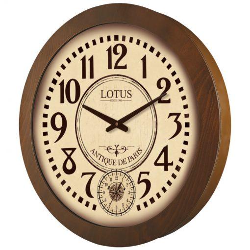 ساعت دیواری چوبی لوتوس مدل SHERRILL کد W-9831