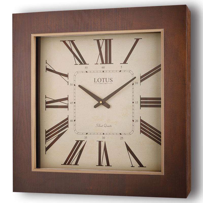 ساعت دیواری چوبی  لوتوس TROY مدل 9911