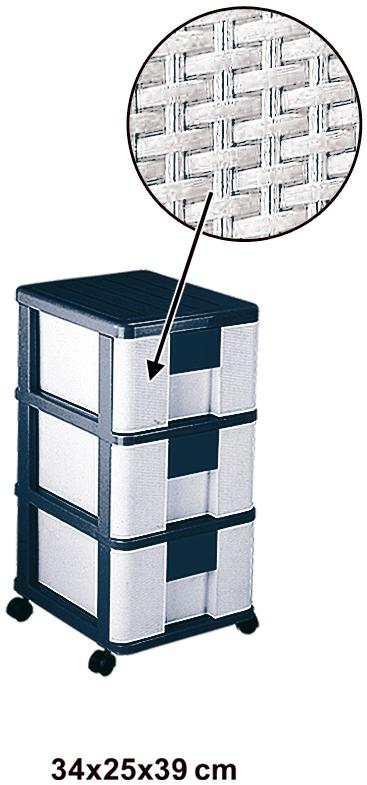 فایل سه طبقه حصیری پلاستیکی مدل 753