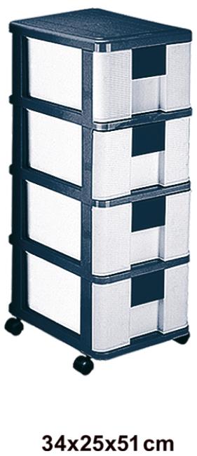 فایل چهار طبقه حصیری پلاستیکی مدل 754