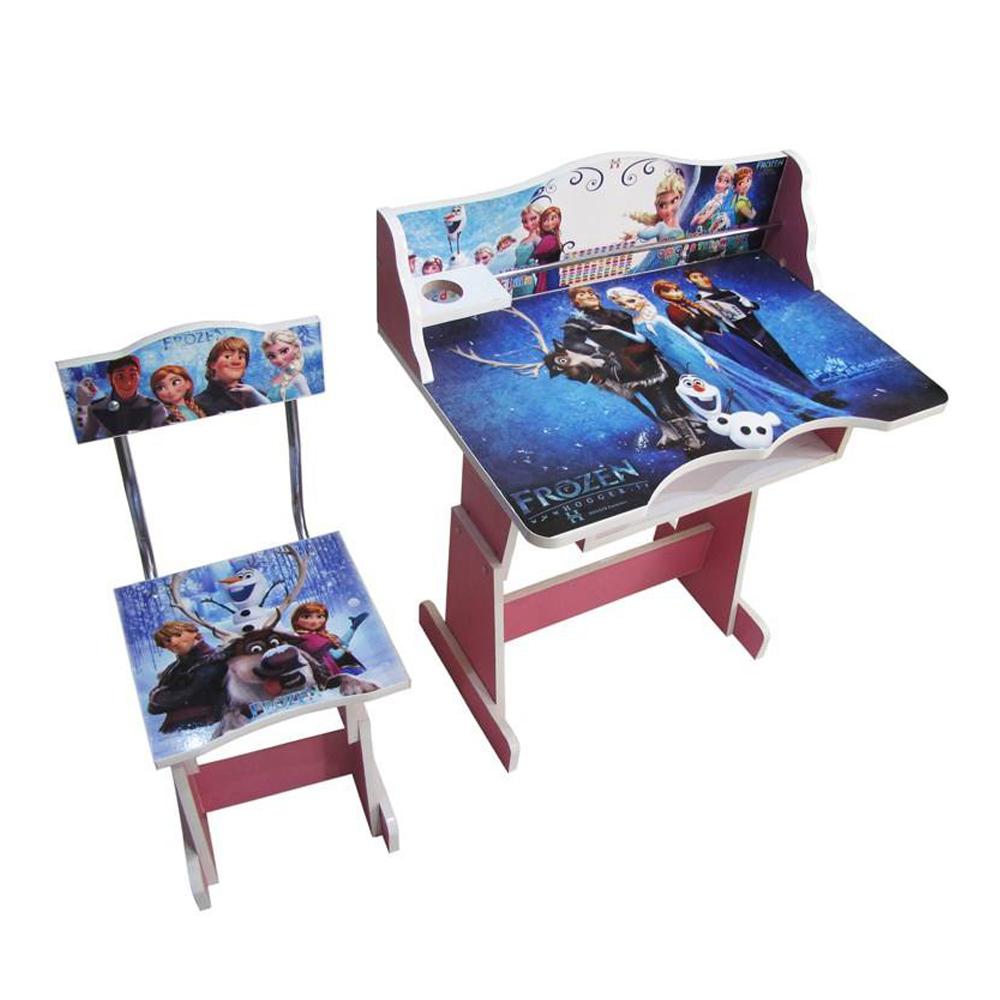 میز و صندلی تحریر کودک طرح فروزن مدل T forozen