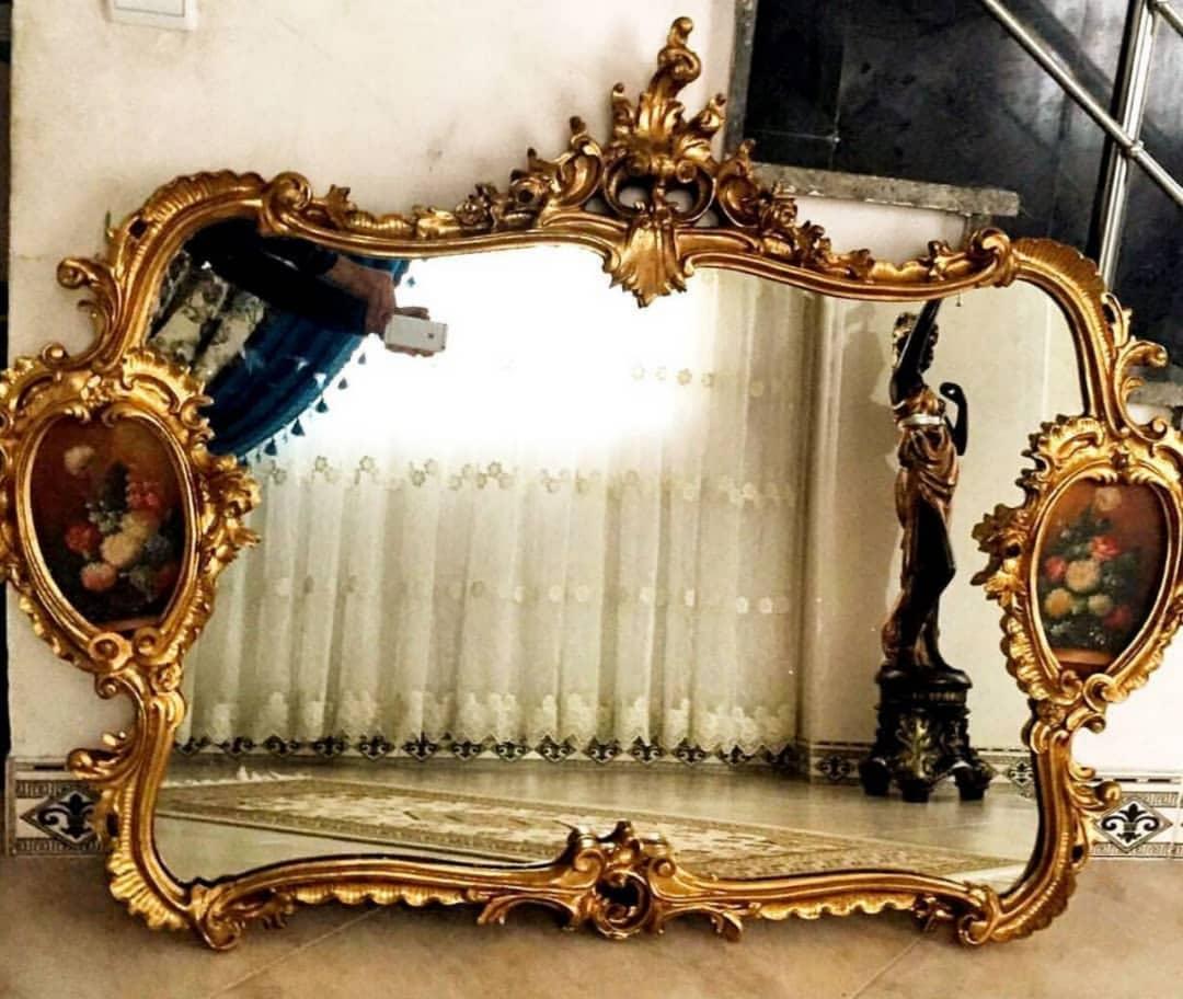 آینه دیواری شومینه ای