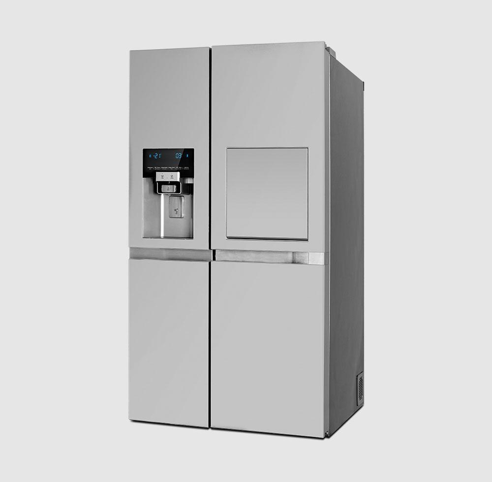 یخچال ساید پرایم دو درب دوو مدل D2S-1037MW رنگ سفید متالیک
