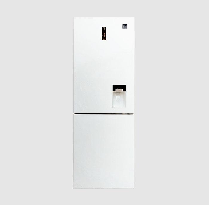یخچال و فریزر پایین 660 پلاس دوو مدل D4BF-1077GW رنگ سفید براق