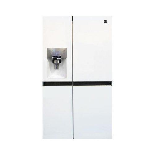 یخچال ساید پرایم سه درب دوو مدل D4S-0034WM رنگ سفید متالیک