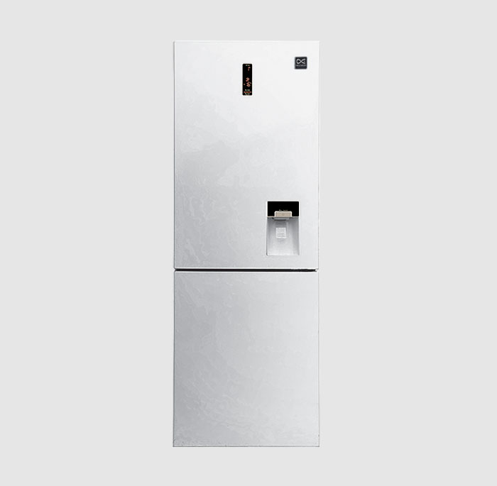 یخچال و فریزر پایین 660 پلاس دوو مدل D4BF-1077LW رنگ سفید چرمی