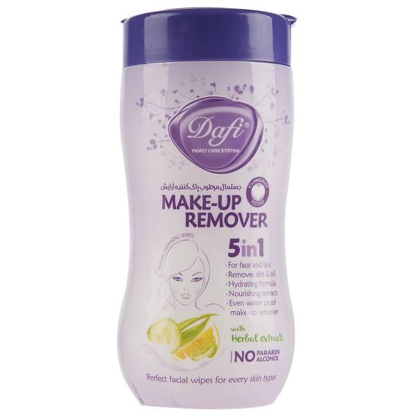 دستمال مرطوب پاک کننده آرایش دافی مدل 5IN1