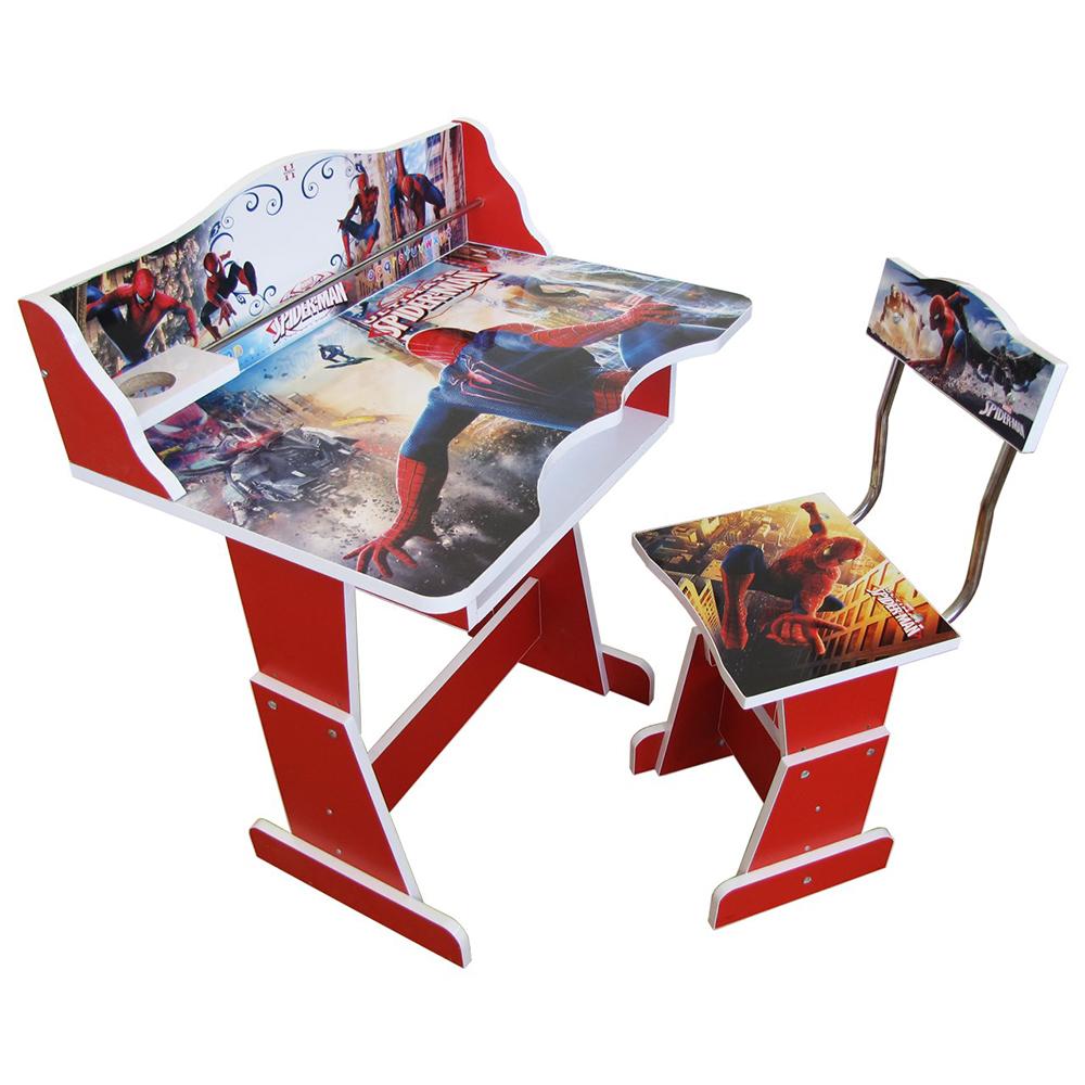 میز و صندلی تحریرکودک طرح مرد عنکبوتی مدل T SPIDERMAN