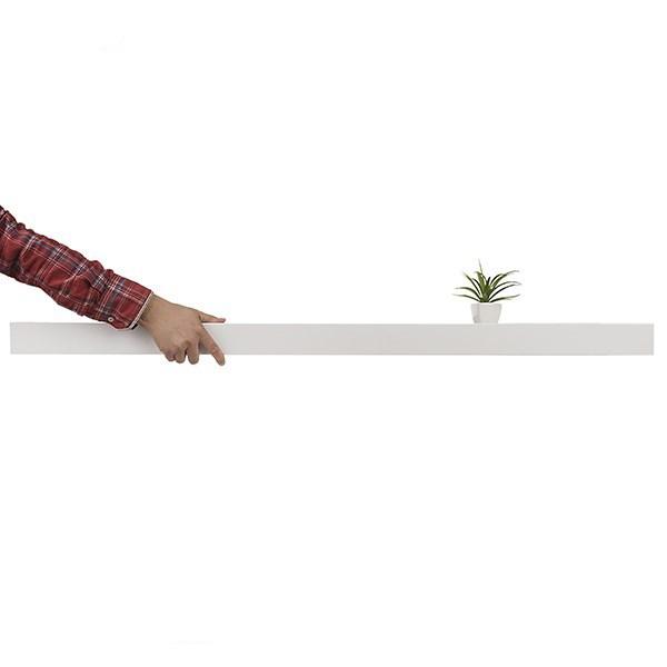 شلف (طبقه دیواری) مدل فشم 120 سانتی-سفید