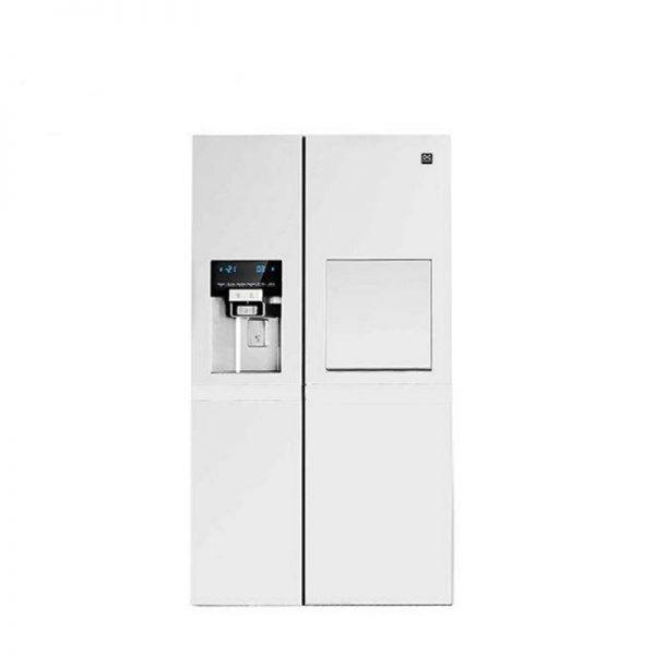 یخچال ساید پالرمو دو درب دوو مدل D4S-3340MW رنگ سفید متالیک