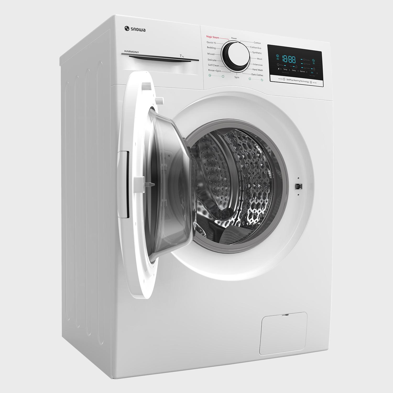 ماشین لباسشویی سفید درب از جلو 7 کیلویی اسنوا سری Harmony SWM-72300