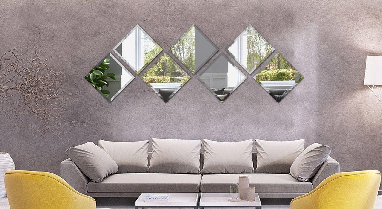 مجموعه آینه دیواری طرح پردایس