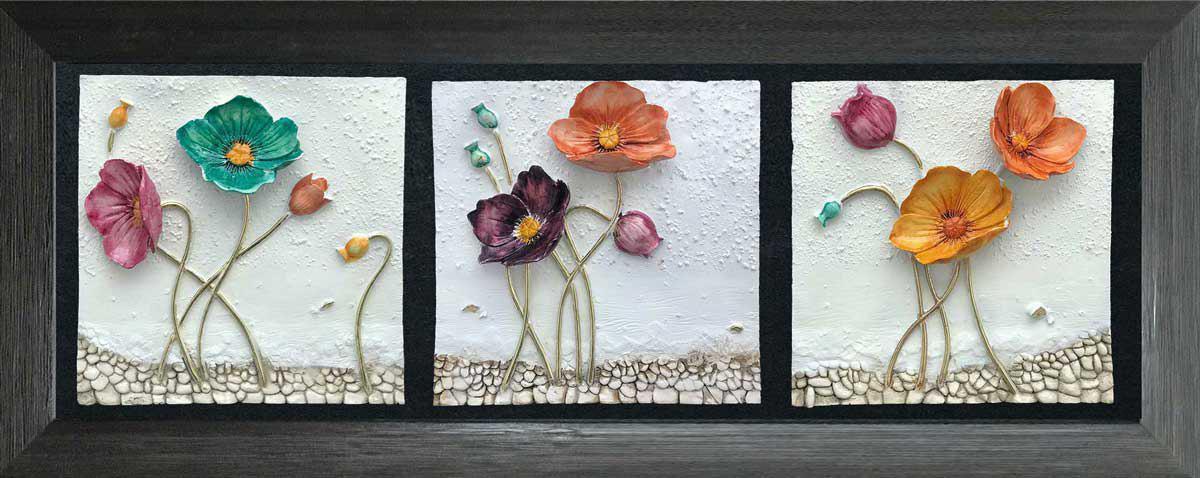 تابلوی گل رنگی 1