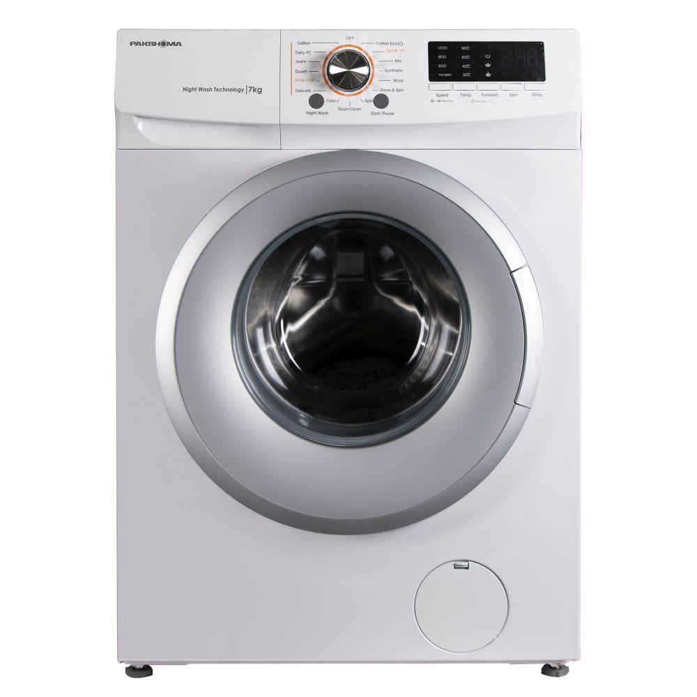 ماشین لباسشویی پاکشوما مدل TFU-73200S ظرفیت 7 کیلوگرم-درب سیلور