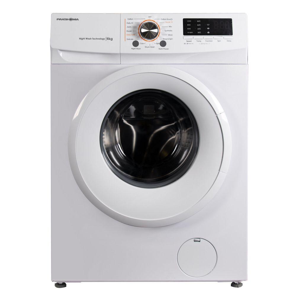 ماشین لباسشویی پاکشوما مدل TFU-63100W ظرفیت 6 کیلوگرم-درب سفید