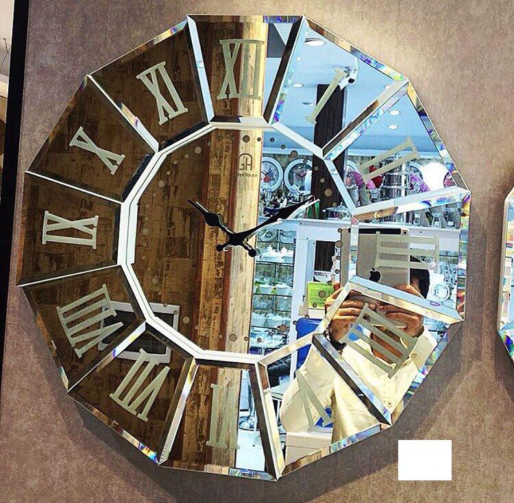 ساعت دیواری لوکس طرح عقیق