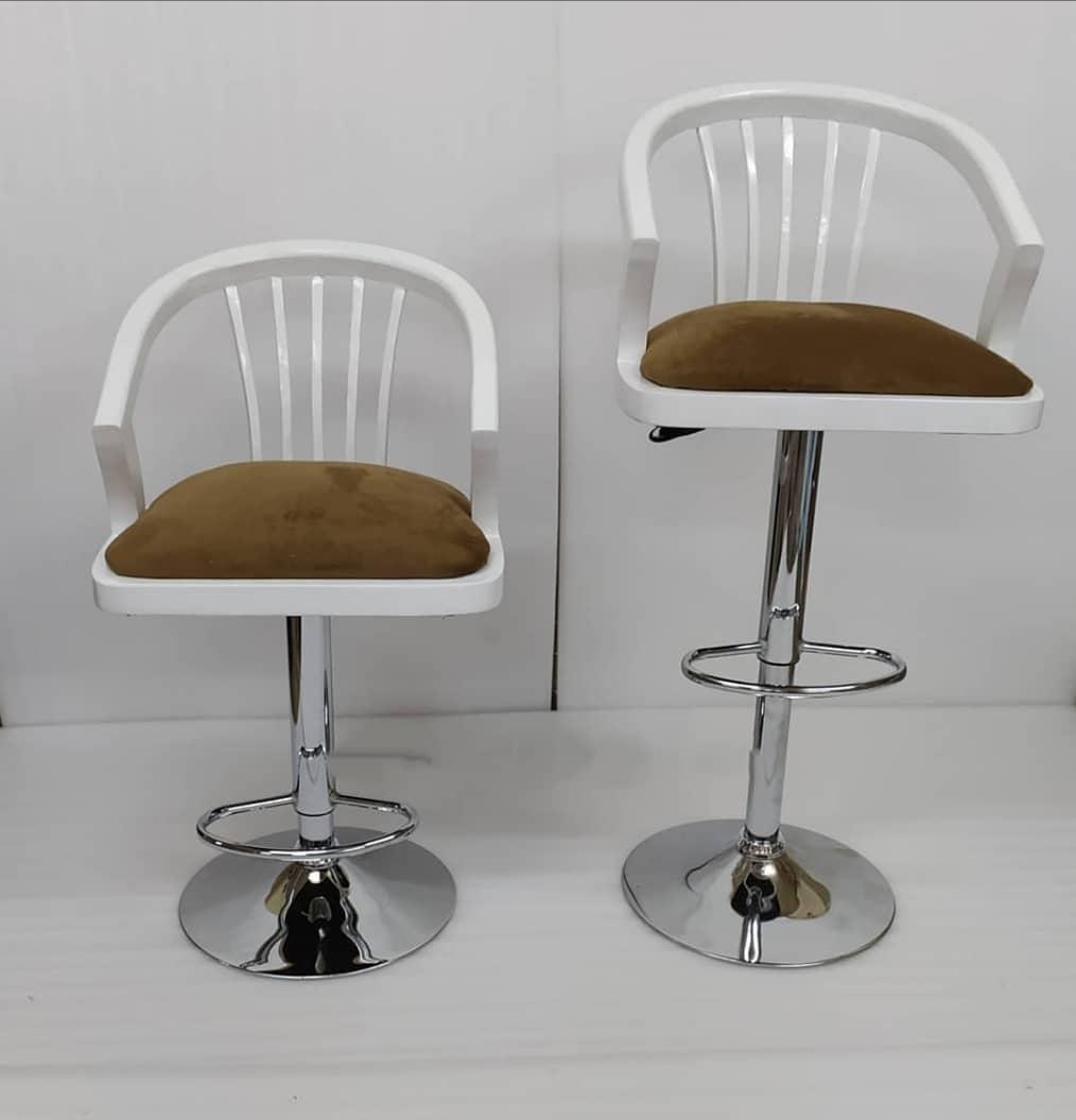 صندلی اپن مدل چوبی خم دار